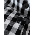 Checked Back Button Fly Blouse photo