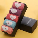 cheap One Set Dotted Line Loves Pattern Macarons Candy Color Socks