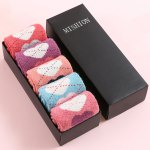 One Set Dotted Line Loves Pattern Macarons Candy Color Socks deal