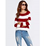 cheap High-Low Striped Baggy Knitwear