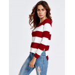 High-Low Striped Baggy Knitwear deal