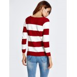 High-Low Striped Baggy Knitwear for sale