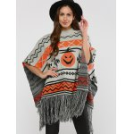 Hallowmas Jacquard Fringed Cape Sweater deal