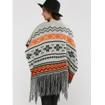 Hallowmas Jacquard Fringed Cape Sweater photo
