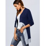 Asymmetric Color Block Cardigan deal