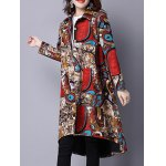 Ethnic Style Pocket Print Shirt Coat deal