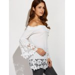 Off The Shoulder Lacework Splicing Blouse deal