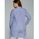 Long Sleeve Plus Size Striped Insert Top for sale