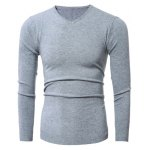 Slim-Fit V-Neck Stretchy Pullover Knitwear