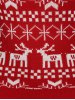 Plus Size Christmas Jacquard Knit Sweater photo