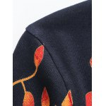 Crew Neck Tree Pattern Color Block Long Sleeve Sweater deal