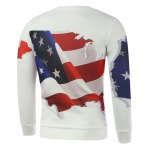 cheap 3D American Flag Print Long Sleeve Sweatshirt