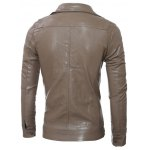 Slim-Fit Multi Pocket Design PU Leather Jacket deal