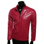 Stand Collar Slimming Zip-Up PU-Leather Jacket