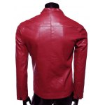 Stand Collar Slimming Zip-Up PU-Leather Jacket deal