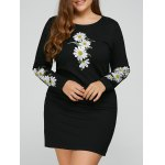 Plus Size Floral Embroidery Dress
