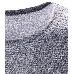 Crew Neck Color Block Splicing Long Sleeve Sweater deal
