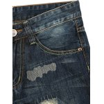 Zipper Fly Cat's Whisker Distressed Jeans deal