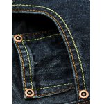 Zipper Fly Cat's Whisker Distressed Jeans for sale