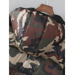 Zip Up Camo Print Hooded Puffer Coat for sale