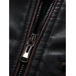 best Hooded Zip-Up PU-Leather Jacket