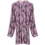 cheap Tiny Floral Belted Plus Size Shirt Dress