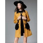 cheap Single Breasted Long Belted Coat