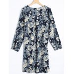 cheap Floral Long Sleeve Vintage Dress