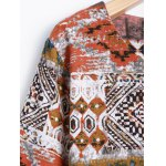Printed Long Sleeve Shift Tribal Dress deal
