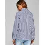 Striped Shirt with Flower Embroidery for sale