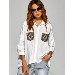 Drop Shoulder Shirt with Embroidery deal