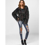 best Fringed Colorful Dot Sweater