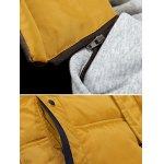 Zip-Up Contrast Sleeve Hooded Quilted Jacket deal