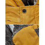 cheap Zip-Up Contrast Sleeve Hooded Quilted Jacket