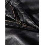Zipper Fly PU-Leather Narrow Feet Pants photo