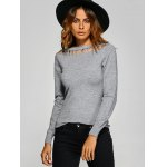 cheap Pullover Hollow Out Knitwear