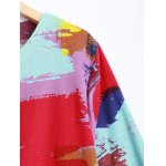 Colorful Printed Long Sleeve Dress deal