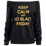 Black Friday Graphic Jumper Sweatshirt