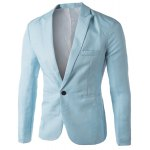 cheap Casual Tailored Collar Single Button Solid Color Blazer For Men