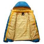 cheap Detachable Hooded Zip-Up Thicken Padded Jacket