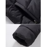 Stand Collar Zipper-Up Quilted Jacket deal