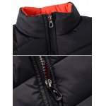 cheap Stand Collar Zipper-Up Quilted Jacket