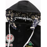 cheap Cartoon Printed Zip-Up Applique Hooded Jacket