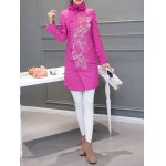 Ethnic Style Embroidered Padded Coat deal