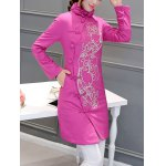 cheap Ethnic Style Embroidered Padded Coat