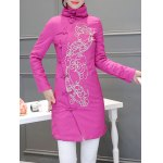 Ethnic Style Embroidered Padded Coat
