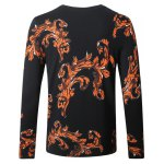 cheap Leopard Ancient Flower Print Pullover Sweater