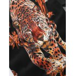 Leopard Ancient Flower Print Pullover Sweater for sale