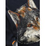 Wolf Chain Print Pullover Sweater for sale