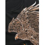 Eagle Floral Print Pullover Sweater deal